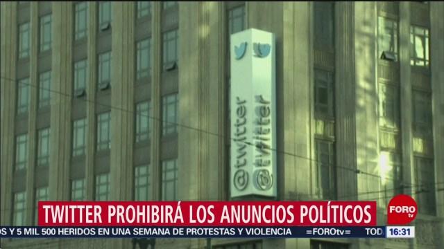 FOTO: Twitter prohibirá anuncios político
