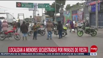 Ubican a menores secuestradas por payasos en Iztapalapa, CDMX
