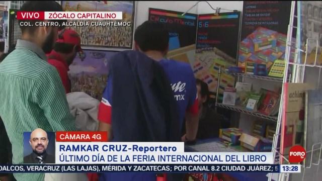 FOTO: Último día de la Feria Internacional del Libro en el Zócalo, 20 octubre 2019