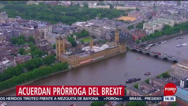 FOTO: Unión Europea acuerda aplazar el Brexit, 28 octubre 2019