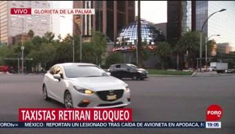 Foto: Bloqueo Taxistas Reforma Hoy 7 Octubre 2019