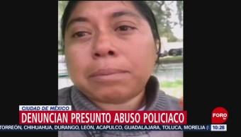 FOTO: Vendedora denuncia a policías por tirarle sus churros, 13 octubre 2019