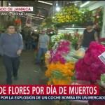 FOTO: Venta flores por Día Muertos Mercado Jamaica