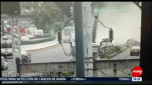 Foto: Video Momento Choque Accidente Santa Fe Hoy CDMX 8 Octubre 2019