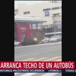Foto: Viento Arranca Techo Autobús Video31 Octubre 2019