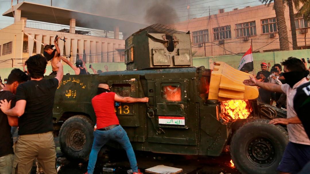 Foto: Protestas en Irak, 3 de octubre de 2019,