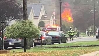 Foto: Viviendas se incendian por caída de avioneta en Nueva Jersey, 29 de octubre de2019