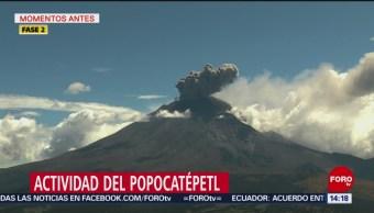 FOTO: Volcán Popocatépetl registra nuevas fumarolas