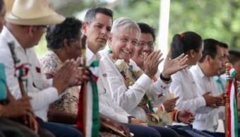 Foto: El gobernador celebró este encuentro realizado desde el Centro Coordinador de Pueblos Indígenas de Nochixtlán, 19 de octubre de 2019 (Presidencia)