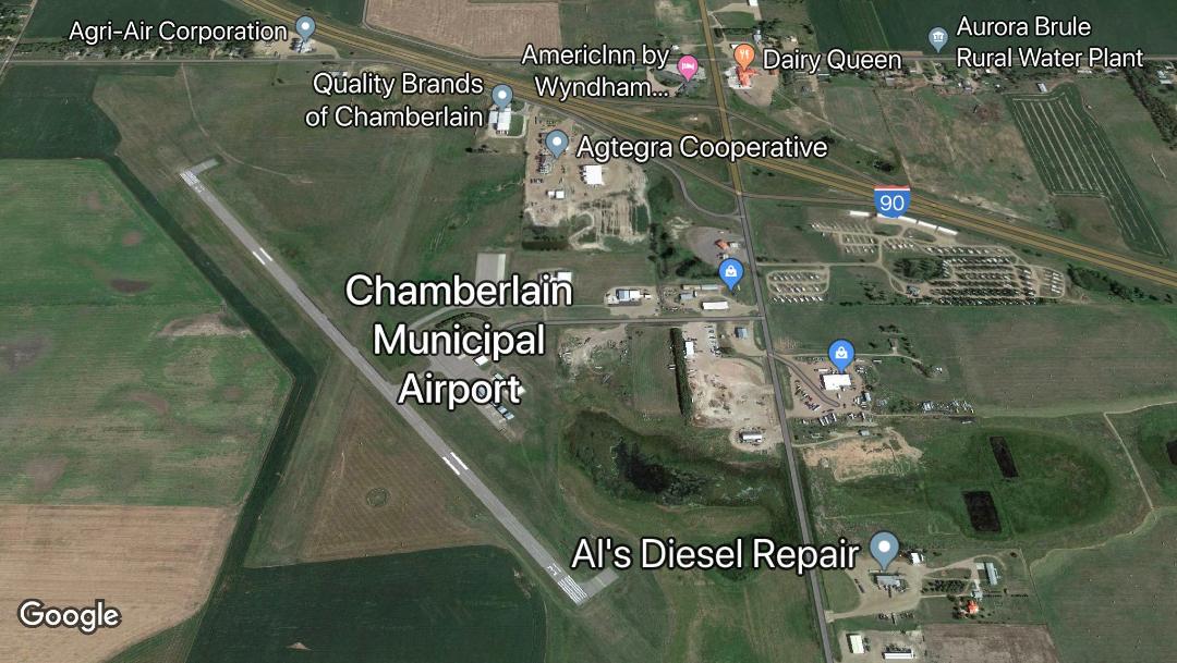 Foto: Nueve muertos al estrellarse un avión en Dakota del Sur, EEUU, 30 de noviembre de 2019, (Google maps, archivo)