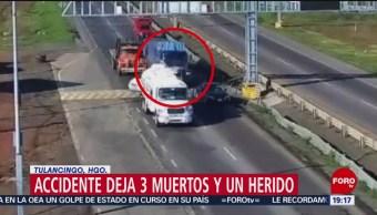 Foto: Accidente Hidalgo Tráiler Tres Muertos Hoy 4 Noviembre 2019