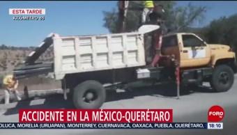 FOTO: Accidente en la México-Querétaro complica vialidad, 18 noviembre 2019