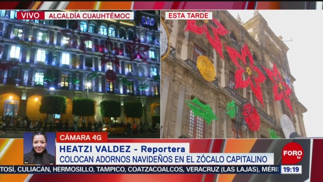 Foto: Adornos Navideños Iluminación Zócalo CDMX Navidad 27 Noviembre 2019