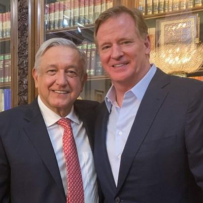 El béisbol 'es el rey de los deportes': AMLO a Roger Goodell de la NFL