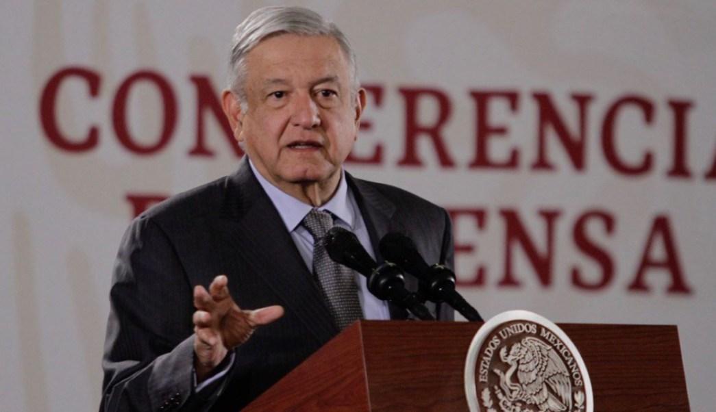 Foto: El presidente Andrés Manuel López Obrador en conferencia de prensa, 8 noviembre 2019