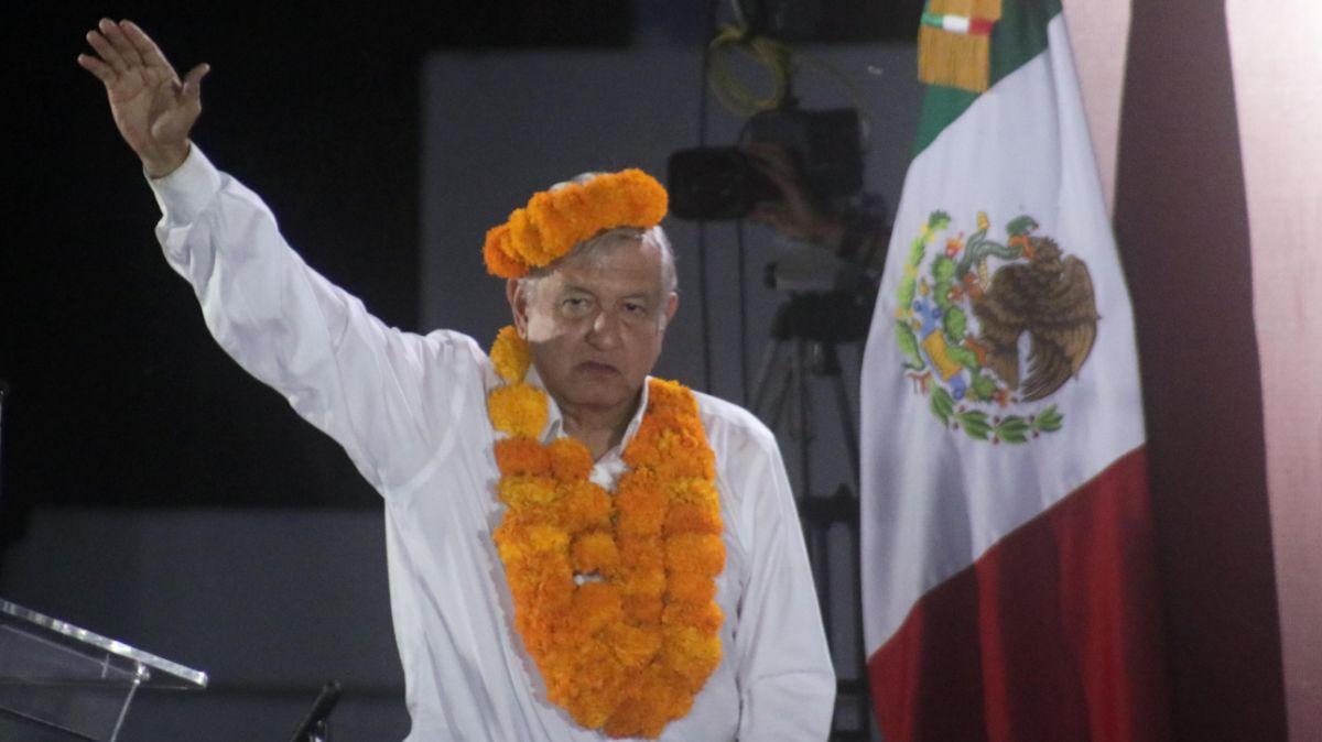 """El presidente López Obrador durante el """"Diálogo con el Pueblo Náhuatl"""""""