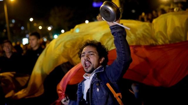 """Imagen: El país afronta hoy un periodo de incertidumbre que se ve reflejado en marchas y paros de ciudadanos que no se sienten satisfechos con la situación actual del país"""", expresó Quintero"""