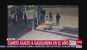 Foto: Asaltan Cuarta Vez Gasolinera Puebla 8 Noviembre 2019