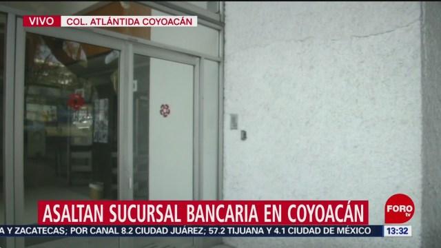 FOTO: Asaltan sucursal bancaria Coyoacán CDMX,