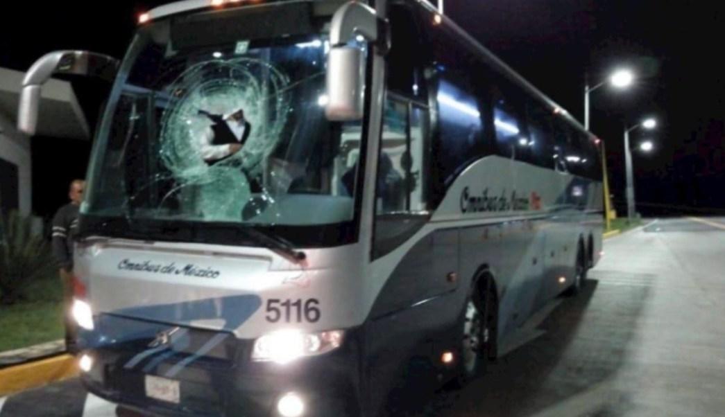 Foto: Asaltantes lanzan rocas a autobús en San Luis Potosí, 3 noviembre 2019