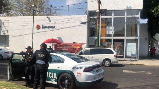 Asalto en sucursal bancaria en Coyoacán
