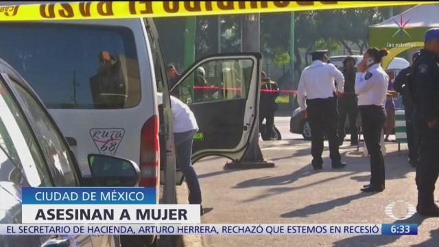 Asesinan a mujer durante asalto a transporte público en la CDMX