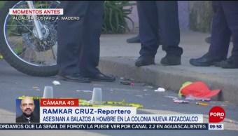FOTO: Asesinan a un joven en la colonia Nueva Atzacoalco, 10 noviembre 2019