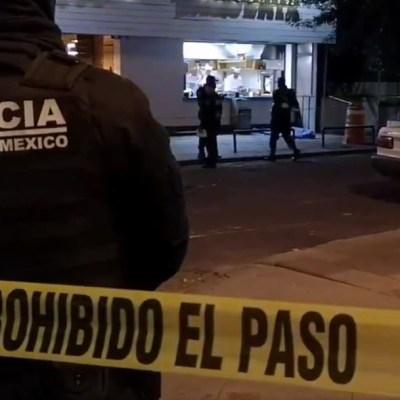 Asesinan a sujeto frente a taquería al sur de la CDMX