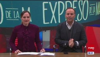 Foto: Así arranca Expreso Mañana Esteban Arce 15 noviembre 2019