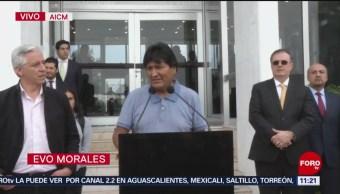 Asilo político a Evo morales se hizo efectivo, dice Ebrard