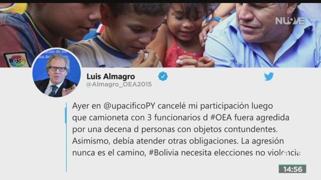 FOTO: Atacan Funcionarios OEA Bolivia