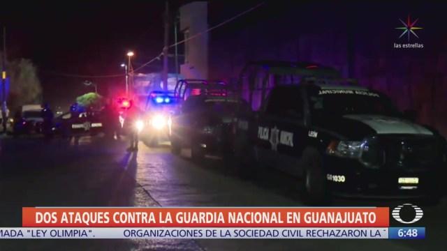 Atacan a integrantes de la Guardia Nacional en Guanajuato