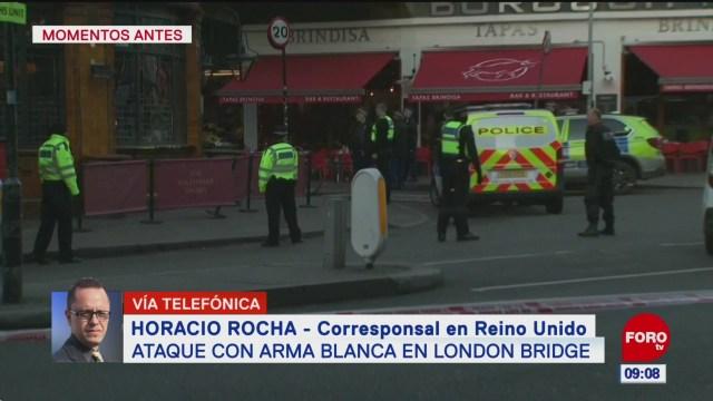 Ataque con arma blanca en Puente de Londres deja cinco heridos