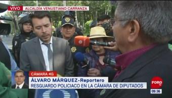 Autoridades de CDMX dialogan con campesinos en la Cámara de Diputados