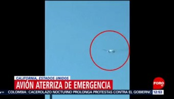 Avión con 360 personas a bordo aterriza de emergencia en Los Ángeles