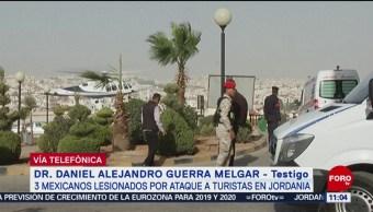 Ayudamos a lesionados mientras llegaba la asistencia, dice testigo del ataque en Jordania