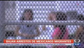 Bajan arrestos de migrantes mexicanos en EU