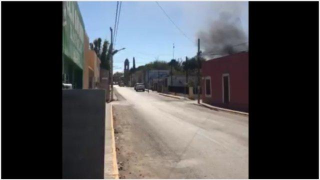 Foto: Reportan balacera en Villa Unión, Coahuila, 30 de noviembre de 2019 (Twitter)