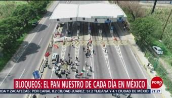 Foto: Bloqueos Vías Comunicación Delito México 8 Noviembre 2019