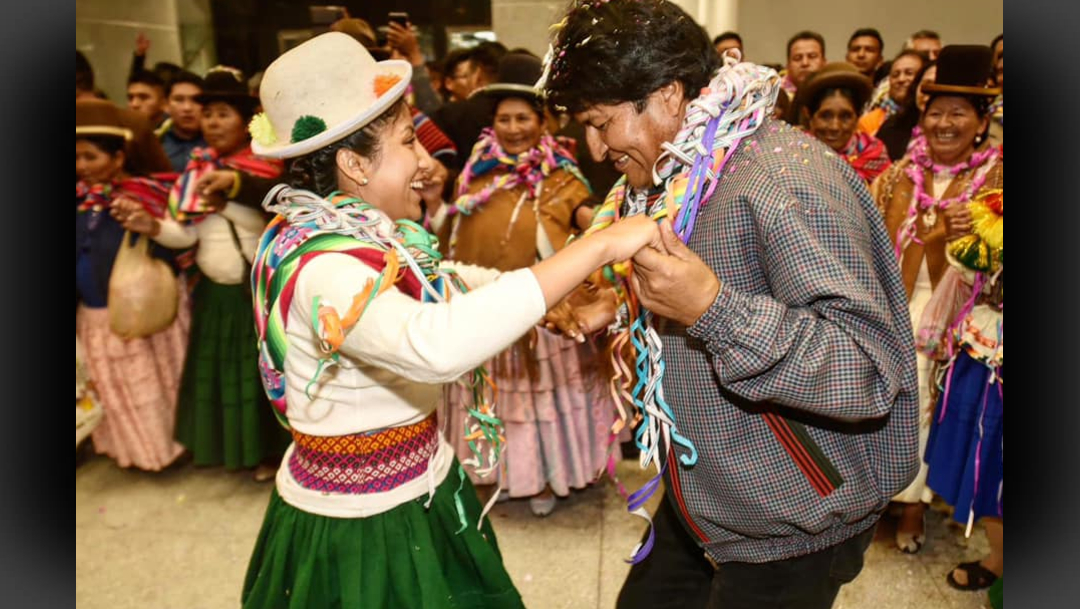 FOTO Bolivia autoriza salida de hija de Evo Morales a México (Facebook)