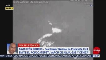 FOTO: Caída ceniza emisiones volcán Popocatépetl,