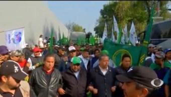 Foto: Campesinos Encapsulados Intentaron Irrumpir Desfile Revolucionario CDMX 20 Noviembre 2019