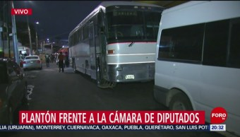 FOTO: Campesinos mantendrán bloqueo en Cámara de Diputados, 11 noviembre 2019