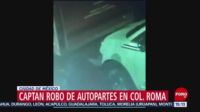 FOTO: Video Robo De Autopartes Colonia Roma