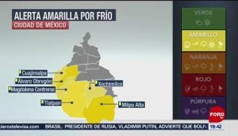 FOTO: CDMX, en alerta amarilla por frío, 14 noviembre 2019