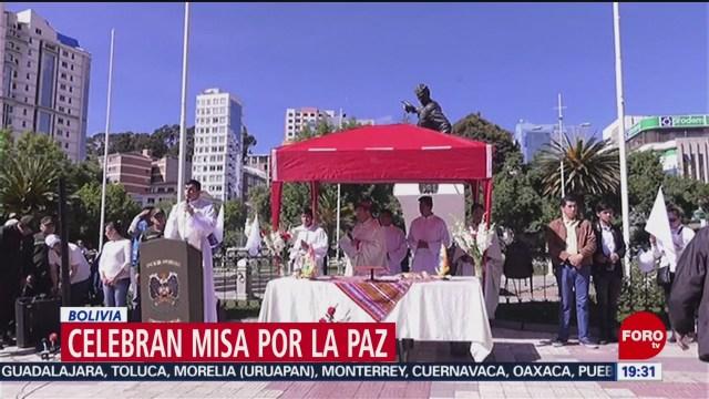 FOTO: Celebran misa por la paz en Bolivia, 17 noviembre 2019