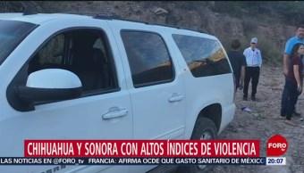 Foto: Chihuahua Sonora Altos Índices Violencia 7 Noviembre 2019