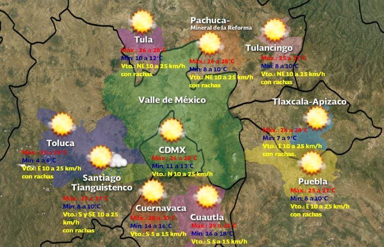 Foto: Sin pronóstico de lluvia en el Estado de México y la Ciudad de México, 30 noviembre 2019