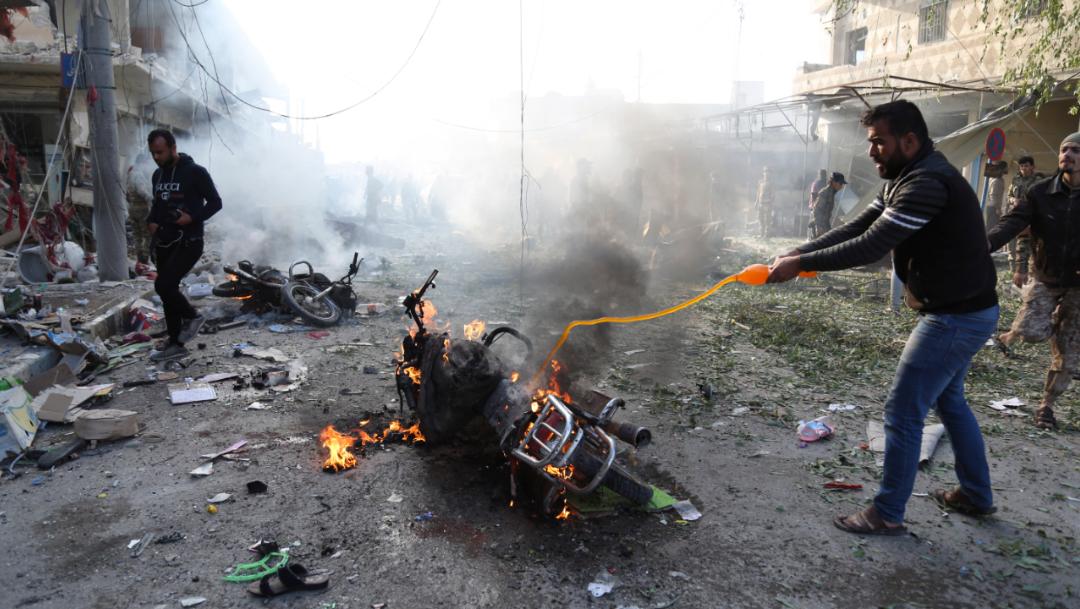 Foto: El Ministerio de Defensa de Turquía atribuyó el atentado a la milicia kurda de las Unidades de Protección del Pueblo, 2 de noviembre de 2019 (AP)