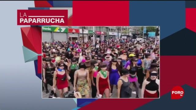 Foto: Colectivo Feminista Protesta Performance Cdmx Noticias Falsas 26 Noviembre 2019